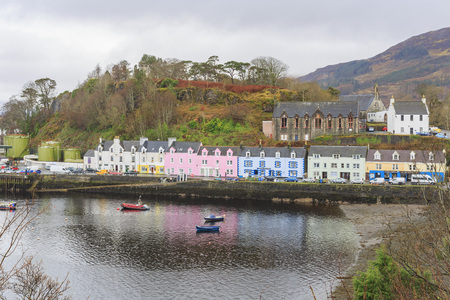 skye: The famous Portree Harbour at Isle of Skye