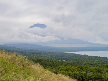 sight seeing: Sight seeing Mount Fuji at the vista point of Lake Yamanaka