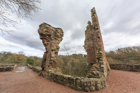 rosslyn: The historical Rosslyn Castle at Edinburgh, Scotland