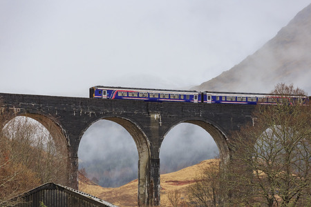 viaduct: The famous Glenfinnan Viaduct, Harry Potter Scene