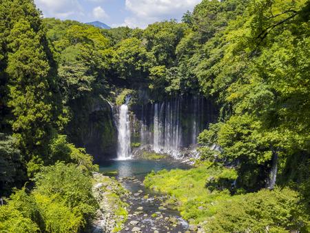 The beautiful Shiraito Falls at Fujinomiya, Shizuoka Prefecture 版權商用圖片