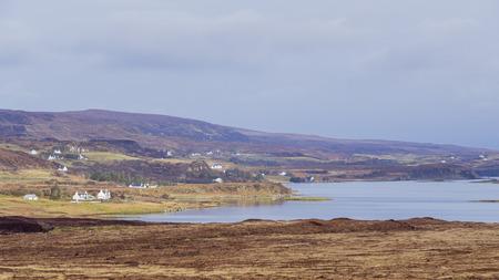 Beautiful country side landscape around Boreraig