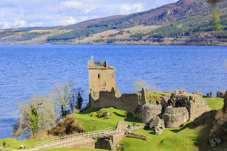 ness: The famous Lago Ness and Urquhart Castle at Highland, Scotland