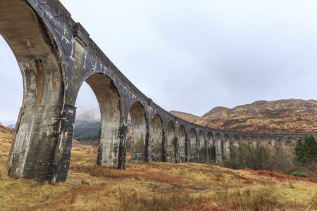 viaduct: The famous Glenfinnan Viaduct Stock Photo