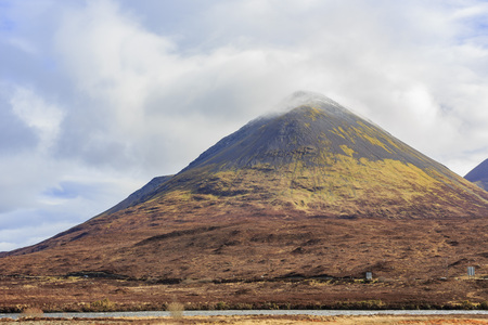 Beautiful country side view with mountain at Highland, Scotland