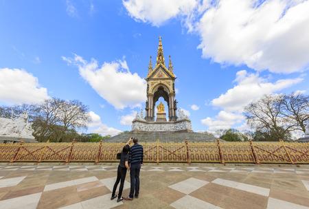hyde: London, APR 17: The Albert Memorial in Hyde Park on APR 17, 2016 at London