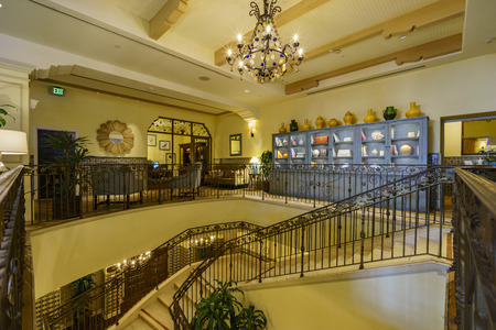 barbara: Santa Barbara, JUL 2: The beautiful Canary Hotel on JUL 2, 2016, at Santa Barbara