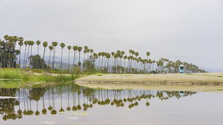 barbara: Santa Barbara beach and sea shore, California Stock Photo