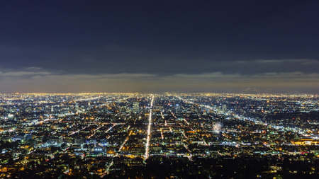 nightscape: Los Angeles downtown nightscape