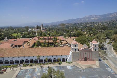 santa barbara: The beautiful Old Misson Church of Santa Barbara, California