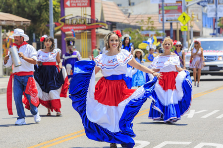 hollywood   california: California, USA - JUN 25, 2016: Superb Tournament of the famous Hollywood Carnival, held in Hollywood, California
