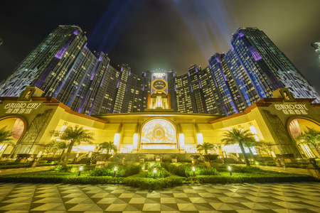 Macau, MAY18: The beautiful Casino - Studio City on MAY 18, 2016 at Macau 에디토리얼