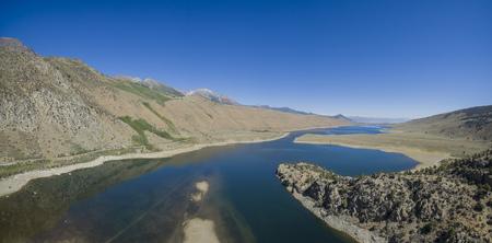 inyo national forest: The lake landscape of Grant Lake in June Lake Loop Stock Photo