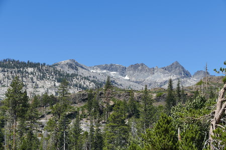 inyo national forest: landscape in Mammoth Lake with blue sky