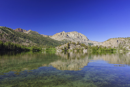 inyo national forest: The Gull Lake in June Lake Loop Stock Photo