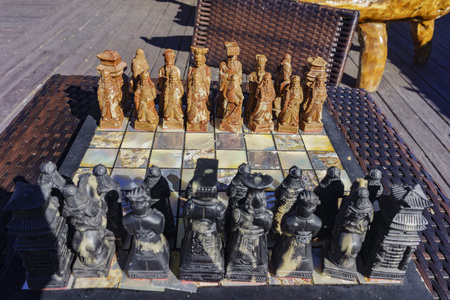 inyo national forest: chess in chinese character design