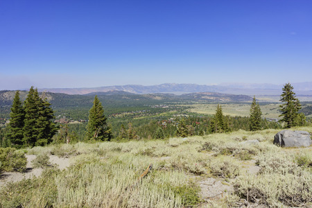 inyo national forest: landscape in the destination of Panorama Dome Trail in Mammoth Lake
