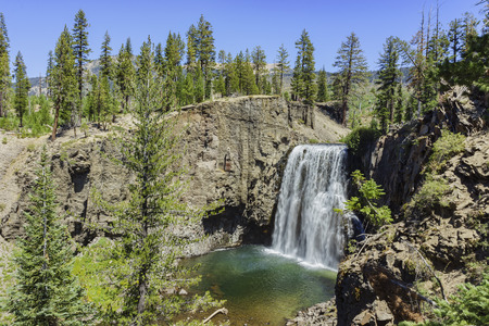inyo national forest: The Rainbow Fall of Devils Postpile National Monument