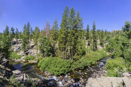 inyo national forest: Middle Fork San Joaquin River in Devils Postpile National Monument