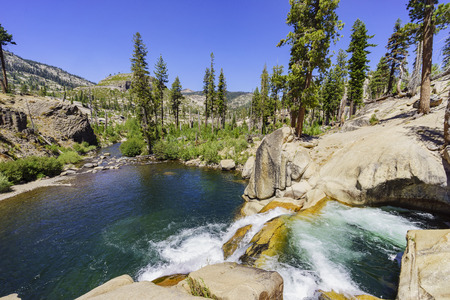 inyo national forest: The Water Fall in Devils Postpile National Monument
