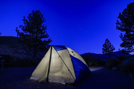 inyo national forest: Camping under the stars in the OH RIDGE campground of June Lake Loop