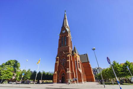 The beautiful Gustaf Adolfskyrkan church of Helsingborg, Sweden