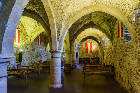 dungeon: Vianden, SEP 10: The dungeon of the famous and historical Vianden Castle at Vianden, Luxembourg