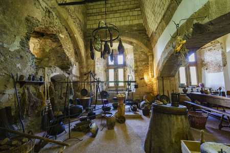 sep: Vianden, SEP 10: The interior of the famous and historical Vianden Castle on SEP 10, 2016 at Vianden, Luxembourg Editorial