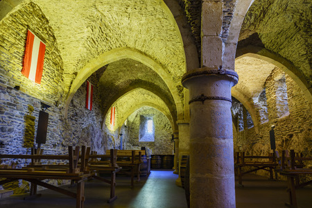 dungeon: Vianden, SEP 10: The dungeon of the famous and historical Vianden Castle on SEP 10, 2016 at Vianden, Luxembourg