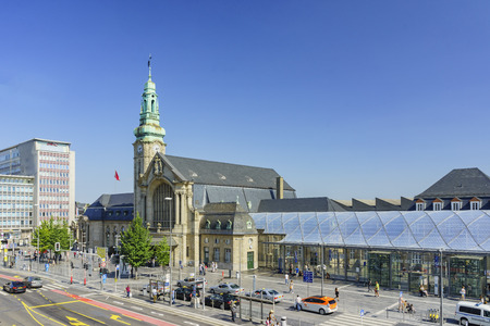 sep: Luxembourg, SEP 10: The historical Luxembourg transportation station at afternoon on SEP 10, 2016 at Luxembourg Editorial