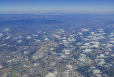 Aerial view of the beautiful Oxnard Pacific and Ventura, California Stock Photo