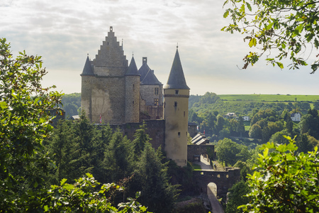 luxembourg: The historical Vianden Castle, Luxembourg Editorial