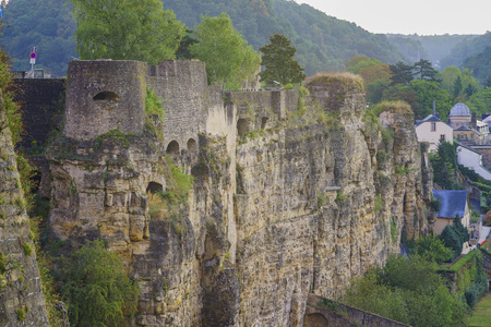 luxembourg: The cliff of the famous Bock, Luxembourg