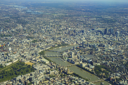 covent: Aerial view of St Jamess Park, Westminster, Lambeth, Covent Garden, Holborn, Temple of London, United Kingdom Stock Photo