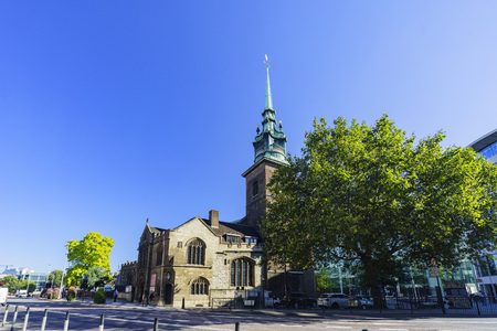 The historical and beautiful All Hallows By The Tower Church of London, United Kingdom Editorial