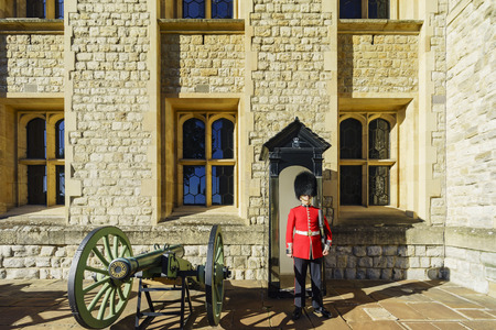 solider: London, SEP 11: The historical and beautiful Tower of London on SEP 11, 2016 at London, United Kingdom Editorial