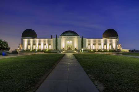 griffin: Los Angeles, MAY 25: Griffin Observatory night scene on MAY 25, 2015 at Los Angeles, California Editorial