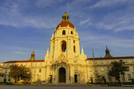 pasadena: The sunset scene of Pasadena City Hall near Los Angeles, California Editorial