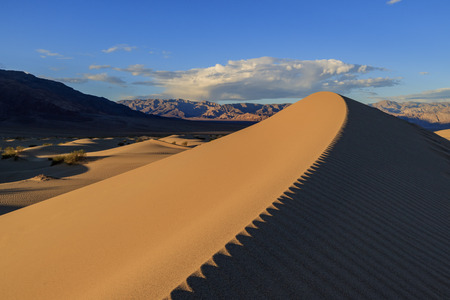 stovepipe: Mesquite Flat Dunes at Stovepipe Wells, Death Valley National Park Stock Photo