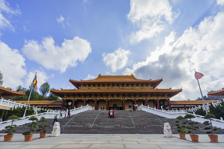 humanistic: Los Angeles, NOV 26: Hsi Lai Temple on NOV 26, 2016 at Los Angeles, California Editorial