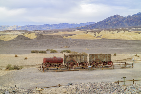 borax: The old water tank car at Harmony Borax Works of Death Valley National Park Editorial
