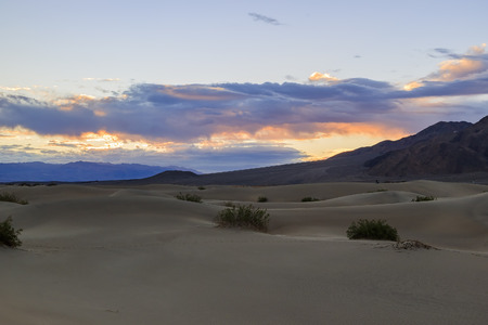 stovepipe: The beautiful Mesquite Flat Dunes at Stovepipe Wells, Death Valley National Park Stock Photo