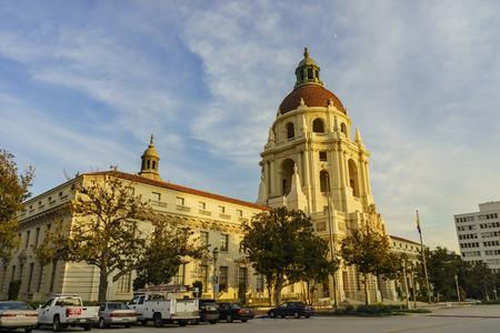 pasadena: The beautiful sunset scene of Pasadena City Hall near Los Angeles, California