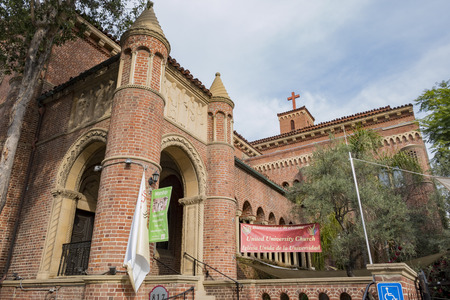 trojans: Los Angeles, DEC 5: United University Church of the University of Southern California on DEC 5, 2016 at Los Angeles