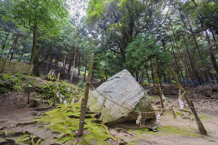 enchantment: Stone of enchantment, Shirahige Shrine at Japan