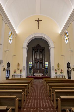 Macau, DEC 29: The interior of the historical St. Lazarus Church on DEC 29, 2016 at Macau, China