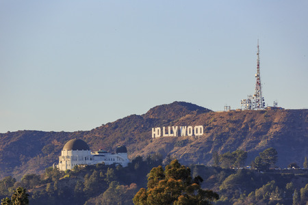 Los Angeles NOV 22 Sunset View Of The Hollywood Sign And Griffith Observatory On