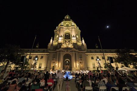 pasadena: Pasadena, OCT 5: Music under star at City Hall on OCT 5, 2014 at Pasadena