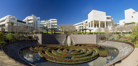 FEB 11, Los Angeles: The famous Getty Center on FEB 11, 2015 at Los Angeles 新聞圖片