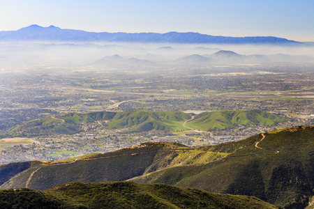 Sight seeing over San Bernardino at afternoon time